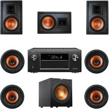 home theater ceiling speakers safeandsoundhq klipsch r 3800 w ii 7 1 channel speaker system
