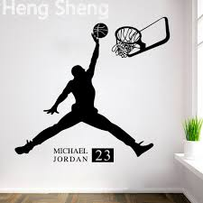 aliexpress com buy sports poster basketball wall stickers no 23