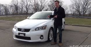lexus hybrid hatchback price review 2012 lexus ct 200h youtube