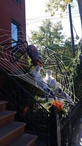 giant spider web decorations for halloween
