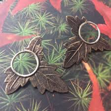 seconds earrings sale seconds small leaf blade earrings discomedusa