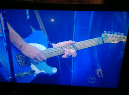 cbs thanksgiving day parade sting u0027s guitarist has an interesting type of guitar on the
