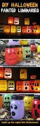 halloween luminaries spooky colorful painted jars