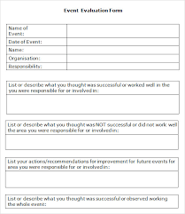 post event report template event evaluation sle 9 documents in pdf word excel