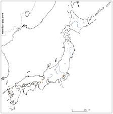 Blank East Asia Map by Blank Map Of Japan With Japanese Rivers And Main Cities