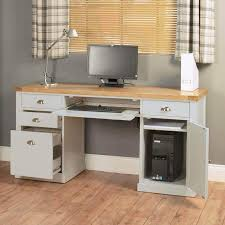 Home Office Desk Oak by Light Grey Painted Oak Veneer Home Office Range Office Desks At