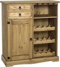 seconique corona sideboard wine rack unit distressed waxed pine