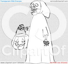 black and white halloween background outline clipart of a cartoon black and white halloween skeleton