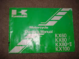 kawasaki 1994 kx60 kx80 kx80 ii kx100 owner u0027s manual part no