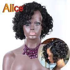 short loose wave hairstyle alice short curly bob wig loose curl wave brazilian virgin hair