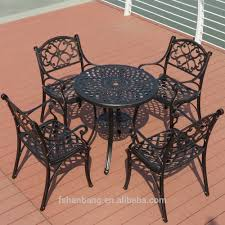 wrought iron chairs patio heavy duty all weather resistant round dining table and chairs