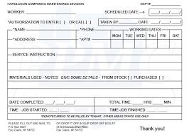 maintenance request form template maintenance request