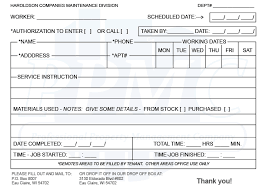 Maintenance Request Form Template by Maintenance Request