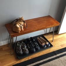 hairpin leg bench modern mahogany bench seating wilbur davis