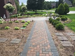 Pictures Of Stone Walkways by Choose Between Brick Pavers U0026 Natural Stone For Your Walkway