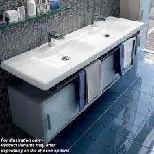 Double Basin Vanity Laufen Living Style Double Vanity Unit 160cm 75901 75911