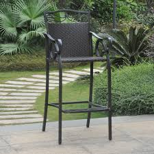 Bar Height Swivel Patio Chairs Amazon Com International Caravan Valencia Bar Height Wicker