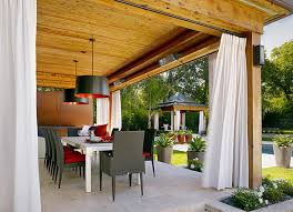 Black Outdoor Curtains Modern Patio Design Ideas With White Rods Style Patio Outdoor