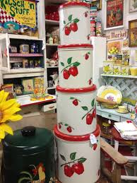 apple canisters for the kitchen red apple canisters flower pot pinterest red apple antique