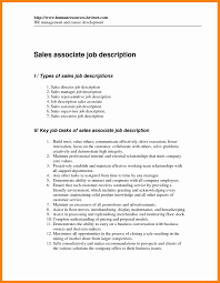 9 sales associate resume description letter signature