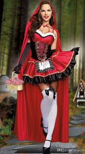 Riding Costumes Halloween Fashion Red Riding Hood Dress Shawl Gloves