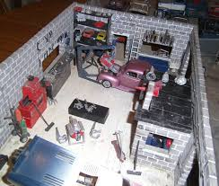 car junkyard honolulu 1 24 scale scratch built diorama speed shop garage junk yard