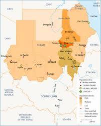World Population Density Map Population Of Sudan