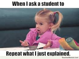 Pay Attention To Me Meme - memes about what happens when students don t pay attention in