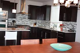 kitchen backsplash ideas with cherry cabinets wooden varnished