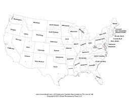 empty map of united states printable states and capitals map united states map pdf
