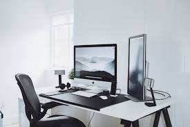 imac desk minimalist workspace setup tour 5k imac ultralinx youtube
