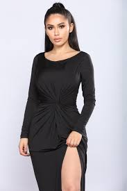 Draped Black Dress Draped Dress Black