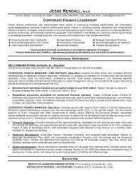 Job Winning Resume Samples by Example Corporate Finance Resume Free Sample