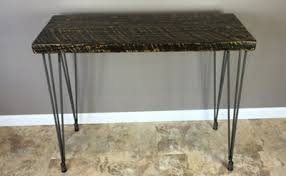Wood Entry Table Reclaimed Barn Wood Console Table With Leveling Legs 30 Height