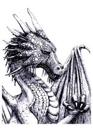 vintage dragon coloring pages adults coloring