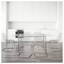 glivarp tobias table and 6 chairs transparent transparent 188 cm