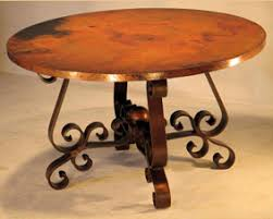 hammered copper dining table hand hammered copper dining table with patricia base woodland