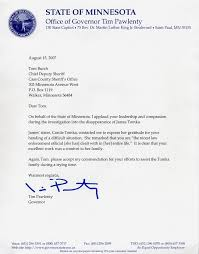 Letter Of Commendation Re Elect Cass County Minnesota Sheriff Tom Burch