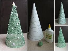 christmas decorations to make at home for kids diy christmas decorations thread roll christmas tree daddy by day