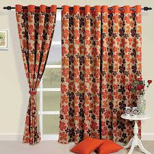 Orange And Brown Curtains Colorful Cotton Door Curtains 54 X 84 Inch Modern