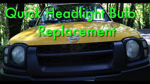 nissan xterra 2015 green nissan xterra headlight bulb install easy diy youtube