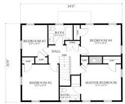 House Floor Plan Measurements Surprising Design Ideas 4 Simple House Floor Plans With Measurets