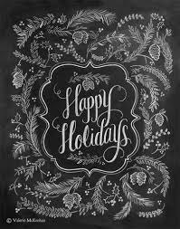 say happy holidays with a chalkboard chalkboard paint