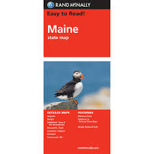 State Maps For Sale by Rand Mcnally Easy To Read State Folded Map Maine