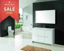 60 u0027 u0027 single sink modern bathroom vanity