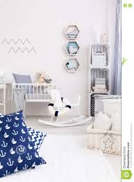 Boys Bedroom White Furniture Marine Interior For Boys And Girls Stock Photo Image 72610065