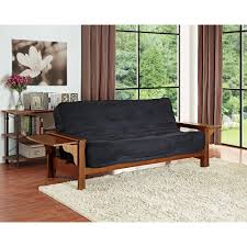 futon grey futon for wooden bench with back which can be