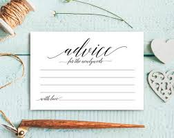 to be advice cards bridal shower advice cards bliss paper boutique