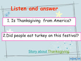Story About Thanksgiving New Standard English Book 11module 4 Pan Xiaoping Chengdu