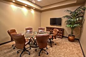 Conference Room Design Ideas Fascinating Wooden Conference Table With Office Chairs In Grey